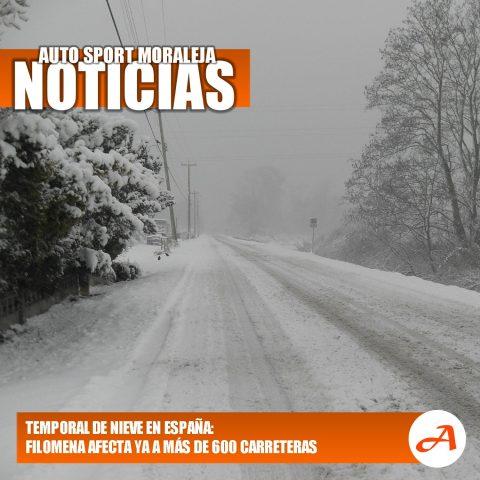 El temporal de nieve Filomena afecta a más de 600 carreteras españolas