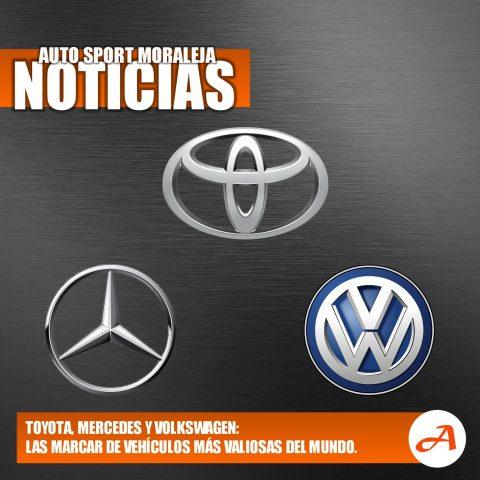 Toyota, Mercedes y Volkswagen, las marcas de coches más valiosas